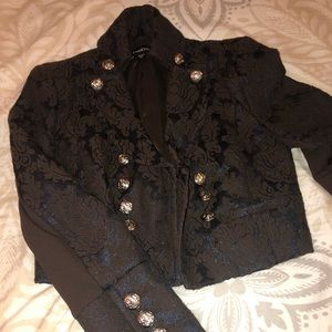 Shimmery blue and brown Bebe blazer